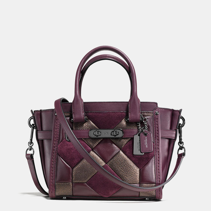 COACH Coach Swagger 21 In Mixed Materials Canyon Quilt