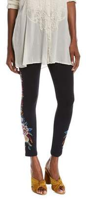 Johnny Was Darielle Leggings with Floral Embroidery, Plus Size