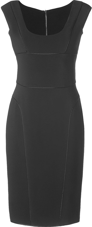 Narciso Rodriguez Black Double-Zip Pencil Dress