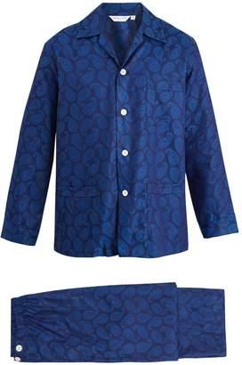 Derek Rose Paris paisley-jacquard cotton pyjama set