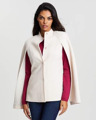 David Lawrence Cecilia Felted Wool Cape