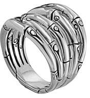 John Hardy Bamboo Silver 18mm Wide Ring, Size 7