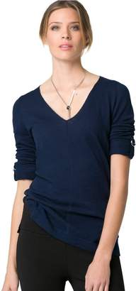 Le Château Women's Cotton V-Neck Sweater,XL