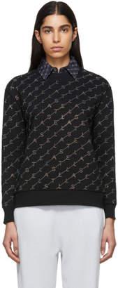 Stella McCartney Black Crystal Monogram Sweatshirt