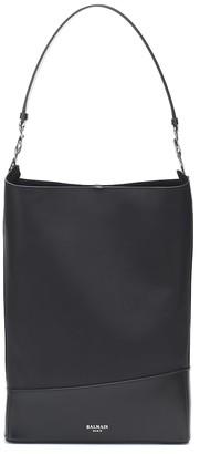 Balmain Polygon Medium leather shoulder bag