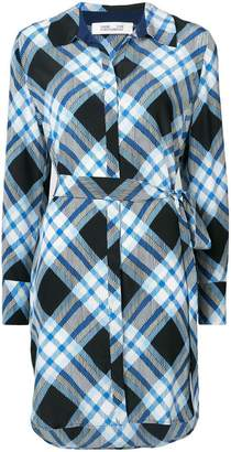 Diane von Furstenberg diagonal check dress