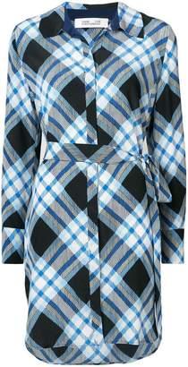 Diane von Furstenberg diagonal check dress