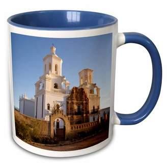 Bac 3dRose USA, Arizona. Mission San Xavier del US03 LNO0109 - Luc Novovitch - Two Tone Blue Mug, 11-ounce