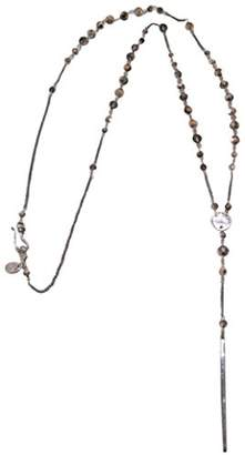 Chan Luu Gun Metal Plated Rose Tone Crystal Dagger Long Necklace
