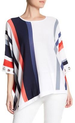 Cullen Easy Vertical Stripe Silk Blend Poncho $180 thestylecure.com