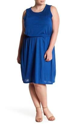 Joe Fresh Crochet Detail Sleeveless Dress (Plus Size)