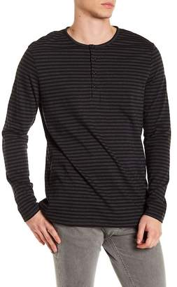 Slate & Stone 4 Button Stripe Henley