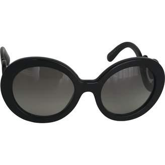 Prada Black Plastic Sunglasses