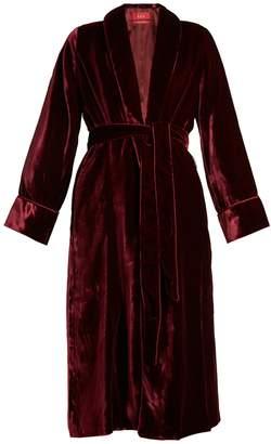 F.R.S - FOR RESTLESS SLEEPERS Aegle belted velvet robe