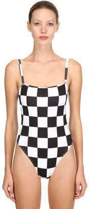 Solid & Striped Redone Checker One Piece Swimsuit