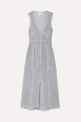 Alice McCall Magic Metallic Open-knit Midi Dress