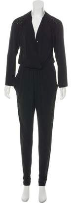 MICHAEL Michael Kors Studded Long Sleeve Jumpsuit