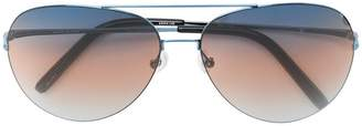 Matthew Williamson stripe lense aviator sunglasses
