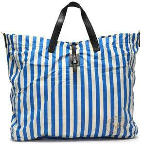 By Malene Birger Leather-Trimmed Striped Shell Tote