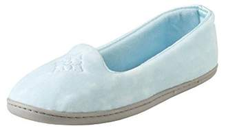 Dearfoams Plush Velour Closed-Back Women's Slipper – Padded Microfiber Slip-Ons with a Durable Outsole - 745