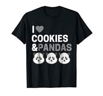 Cute Funny I Love Cookies & Pandas T-Shirt For Panda Lovers