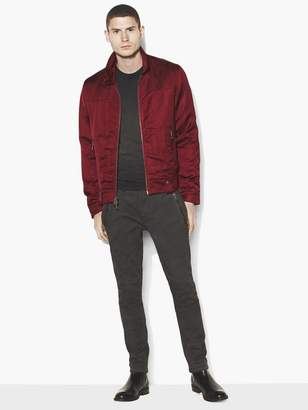 John Varvatos Satin Biker Jacket