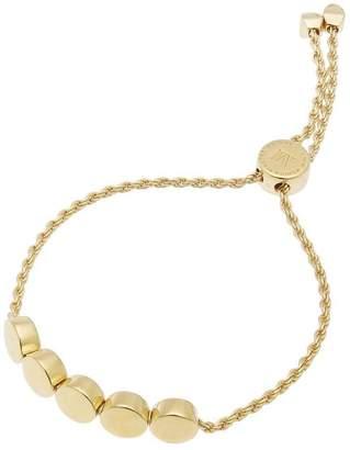 Monica Vinader Gold-Plated Linear Bead Chain Friendship Bracelet