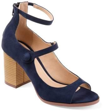 Brinley Co. Womens Faux Suede Ankle-strap Open-toe Heels