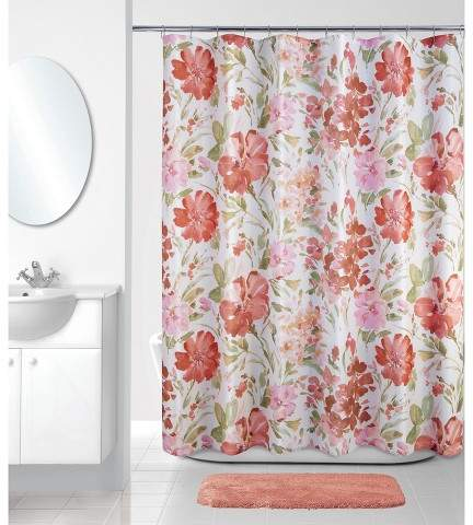 Allure Home Creation Shower Curtain Allure Home Creation Floral Multi-colored