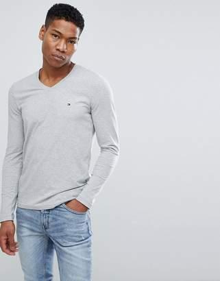 Tommy Hilfiger V-Neck Long Sleeve Top