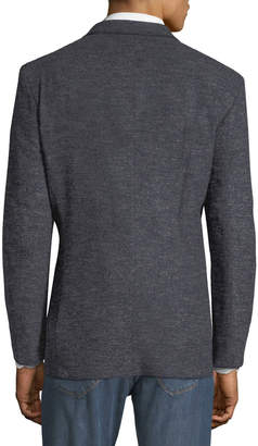 Jax 1 Like No Other Men's Marrow-Stitched Boucle Blazer, Blue/Grey