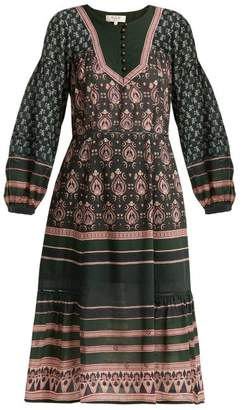 Sea Mia Printed Cotton Blend Dress - Womens - Green Print