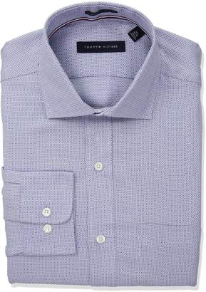 Tommy Hilfiger Men's Non Iron Regular Fit Woven T Spread Collar Dress Shirt