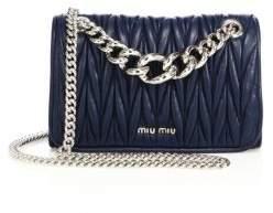 Miu MiuMiu Miu Club Matelasse Leather Chain Shoulder Bag