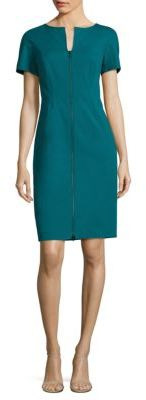 Lafayette 148 New York Deja Zip-Front Dress $498 thestylecure.com