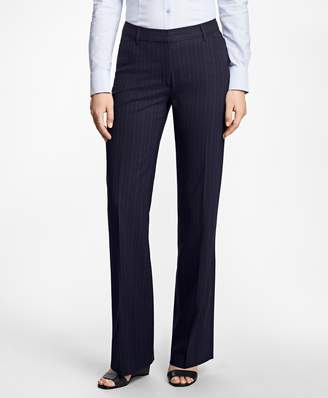 Brooks Brothers Pinstripe High-Waisted BrooksCool Pants