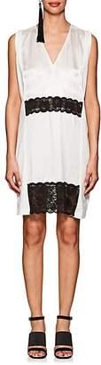 MM6 MAISON MARGIELA WOMEN'S SLIP-DETAILED COTTON DRESS - WHITE SIZE M