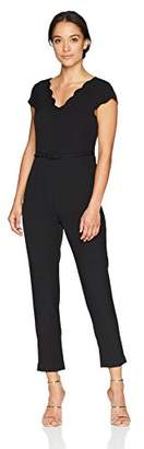 Adrianna Papell Women's Petite Stretch Crepe Jumpsuit