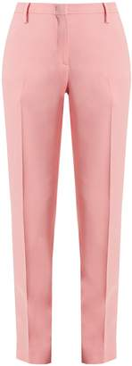 No.21 NO. 21 Mid-rise slim-leg stretch-crepe trousers