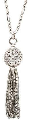 David Yurman Diamond Tapestry Tassel Pendant Necklace