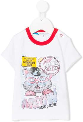 Little Marc Jacobs logo cartoon print T-shirt