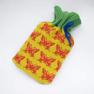 Nervous Stitch Knitted Butterfly Hot Water Bottle Cover