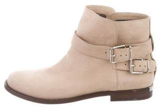 Burberry Suede Buckle Ankle Boots