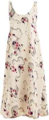 Rachel Comey Balloon fish-print crepe dress