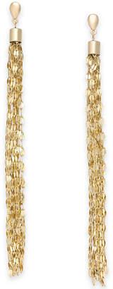 Thalia Sodi Gold-Tone Chain Tassel Drop Earrings, Created for Macy's