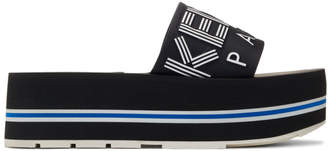 Kenzo Black Papaya Platform Sandals