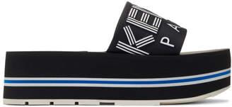 78fcba33deaa Kenzo Black Papaya Platform Sandals