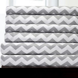 Sweet Home Collection 1500 Thread Count Egyptian Quality Microfiber Deep Pocket Bedroom Chevron Sheet Set