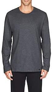 Hanro Men's Night & Day Cotton Long-Sleeve T-Shirt - Gray