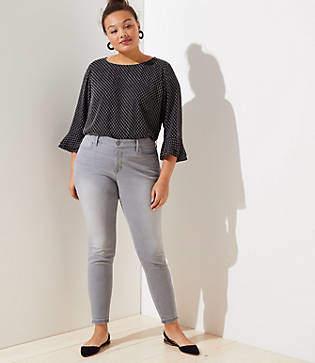 LOFT Plus Modern Soft Skinny Jeans in Staple Grey Wash